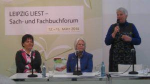 Lesung auf der Leipziger Buchmesse zum Buch Pflege und Beruf unter einen Hut
