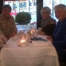 Mit Sängerin und Moderatorin Annemarie Eilfeld in Berlin.
